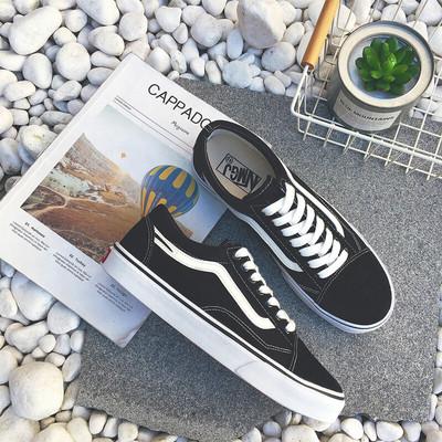 歌班新品潮男板鞋夏秋季男学生时尚透气潮流帆布鞋运动滑板休闲鞋