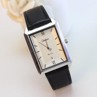 方形日历情侣手表