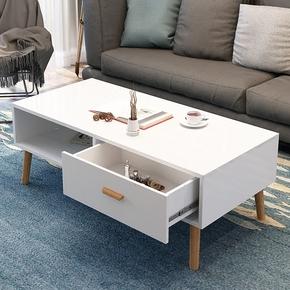 北欧茶几电视柜组合简约现代茶几实木质宜家客厅多功能桌子小户型