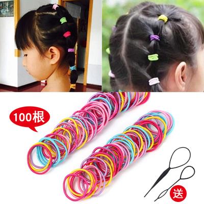 韩国儿童不伤发头绳女宝宝发圈发饰女孩扎头发橡皮筋彩色发绳头饰