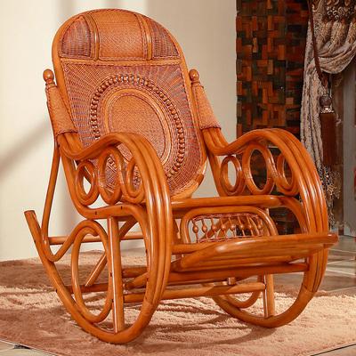 藤椅摇椅摇摇椅藤椅躺椅老人午睡椅逍遥椅阳台室内真藤编成人藤椅