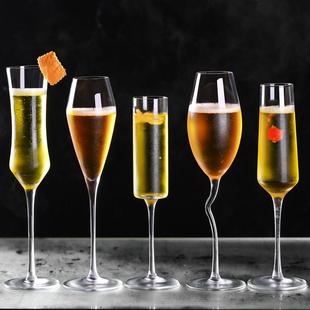 酒吧无铅玻璃香槟杯甜酒杯气泡酒杯红酒杯高脚杯鸡尾酒杯婚庆杯子