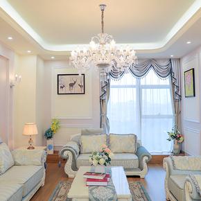 欧式客厅水晶吊灯简约现代餐厅卧室灯奢华大气别墅大厅蜡烛灯具