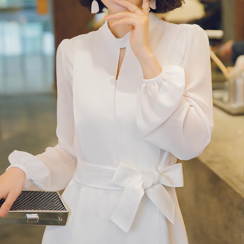 女假两件雪纺长袖裙