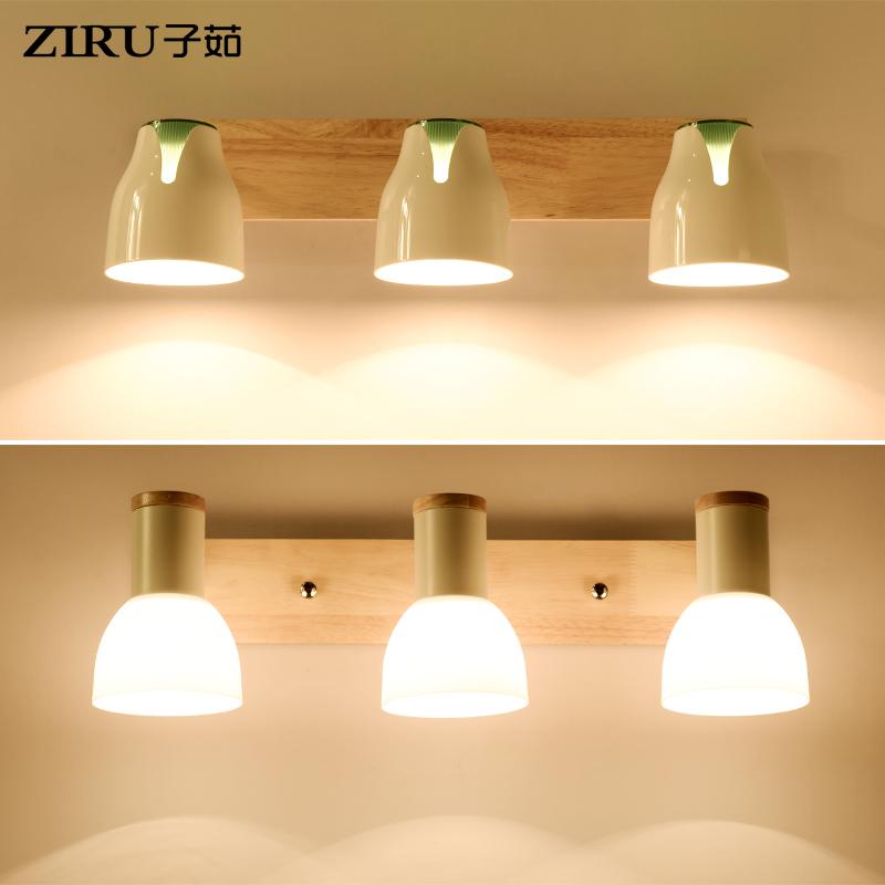 镜前灯卫生间LED北欧简约现代卧室床头壁灯梳妆台浴室镜柜化妆灯5元优惠券