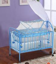 高档品牌婴儿床铁床实木床铁艺床多功能可拼接大床摇篮童床可折叠
