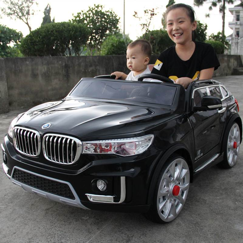 寶馬兒童車四輪小孩電動汽車寶寶遙控車可坐人帶搖擺雙人童車四驅