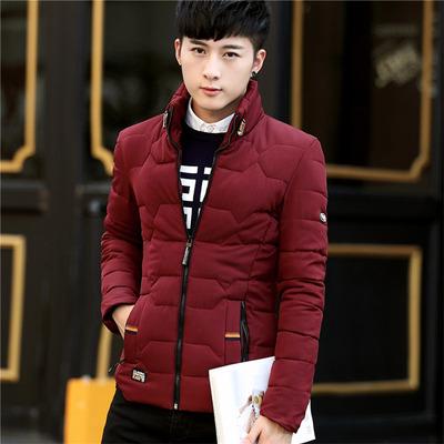 青少年棉衣外套男士冬季棉袄子韩版修身初中高中学生棉服潮流冬装