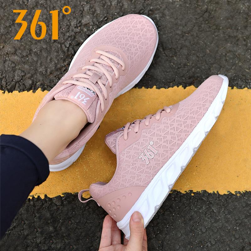 361女鞋跑步鞋秋季网面透气休闲鞋361度跑鞋网鞋旅游鞋运动鞋女N