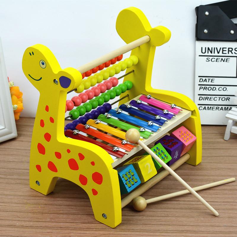 婴幼儿童玩具1-2周岁半手敲琴打击乐器宝宝3-6木制八音琴早教益智