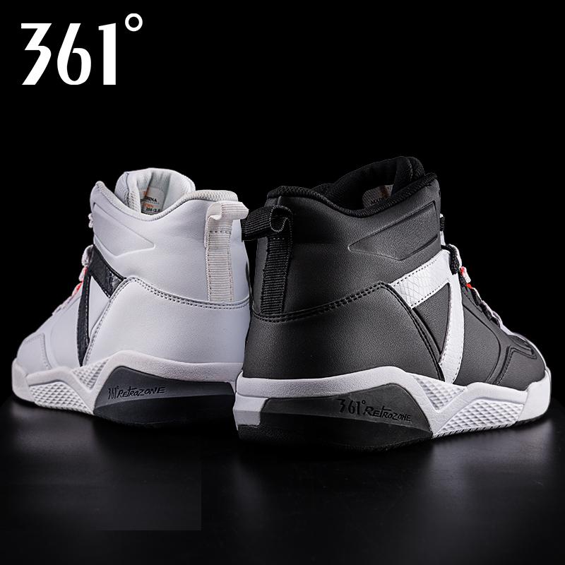 361板鞋男 男鞋2018冬季款加厚运动鞋361度高帮正品保暖 休闲鞋子