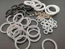 4.8 3.6 聚四氟乙烯加碳纤维泛塞封PTFE铁氟龙耐高压密封圈 2.4图片