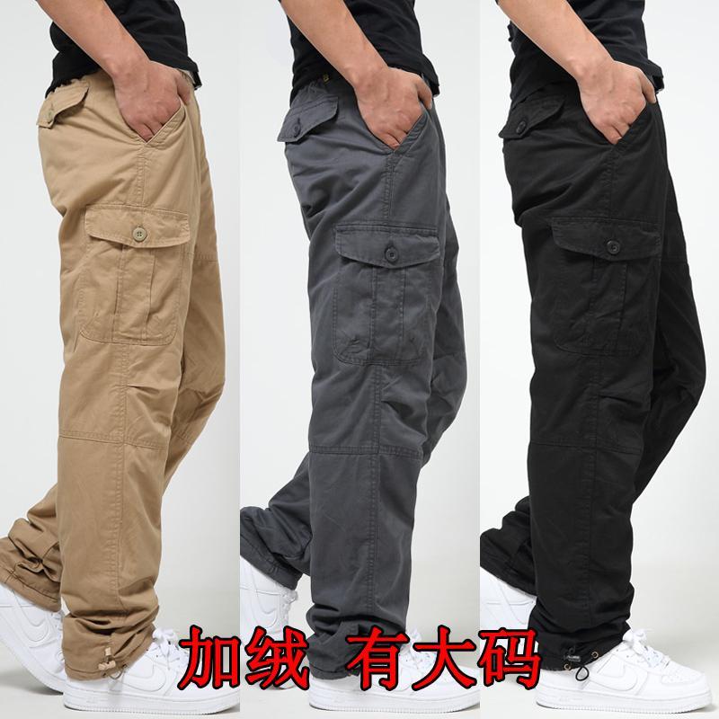 棉裤男冬季加绒加厚外穿宽松运动高腰东北爸爸装中老年人保暖裤子