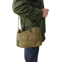 君用小工具帆布军绿挎包解放包单肩斜挎帆布包杂物复古包