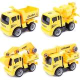 - Combined Excavator 6 Disassemblable toy year engineering car 3 puzzle baby boy model