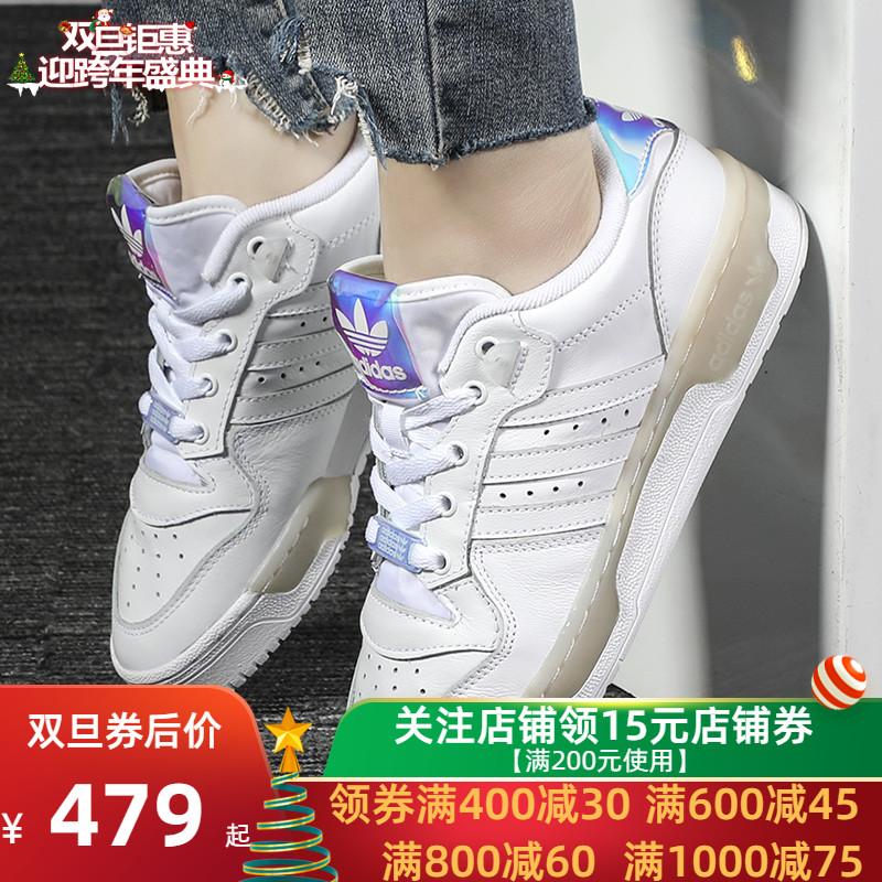 阿迪达斯三叶草女鞋2019冬季新款运动休闲鞋小白鞋透气板鞋EE5935