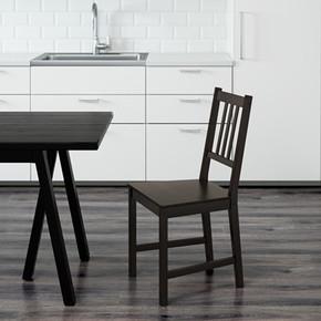 4.1温馨宜家IKEA斯第芬椅子餐椅靠背椅高背椅欧式就餐椅餐厅椅子