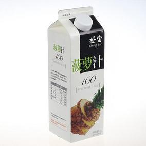 橙宝纯果汁100% 菠萝汁果汁 酒吧调酒专业 1000ml*12盒 一箱价