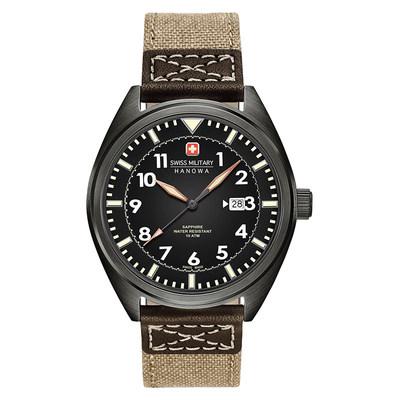 瑞士军表 休闲进口帆布日历石英表男士手表SM14526JSUKH.H02打折促销