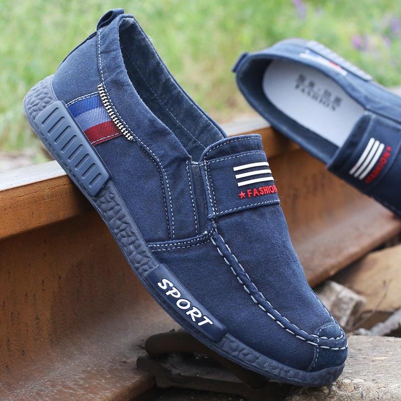 墨苗水洗牛仔帆布鞋男鞋春夏季新款软底老北京布鞋男单鞋休闲鞋子