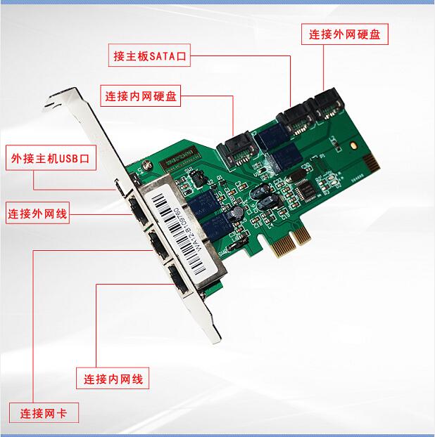 智华USE PCI-E 双硬盘隔离卡内外网 在线切换 无驱