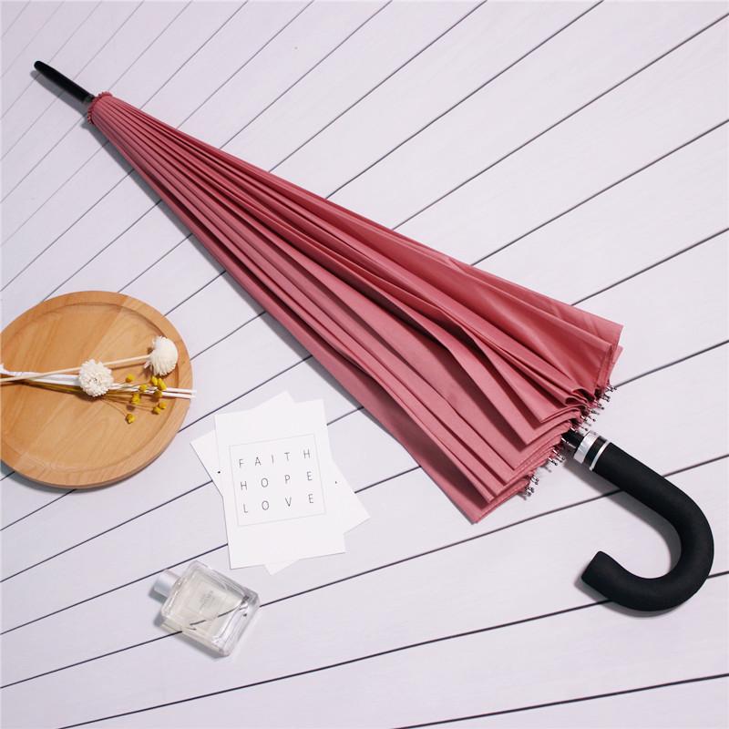 骨纯色雨伞