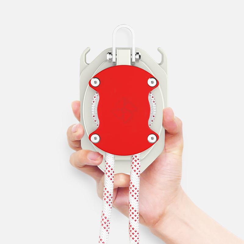 牧德空降器60米高层逃生缓降器火灾家用自救往复求生绳应急包绳索