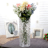 Thickened rattan bamboo ice pattern rich bamboo transport bamboo lily rose water culture cylindrical glass vase