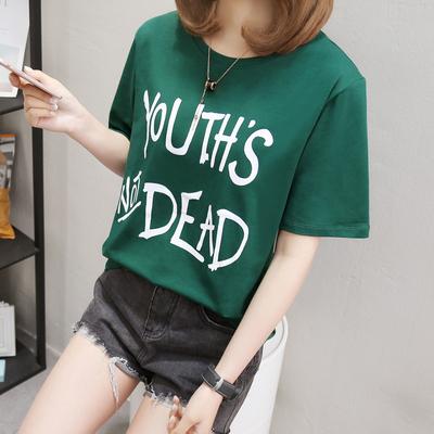 蓝梦妮2018夏装新款宽松短袖t恤女韩版体恤学生上衣半袖休闲小衫