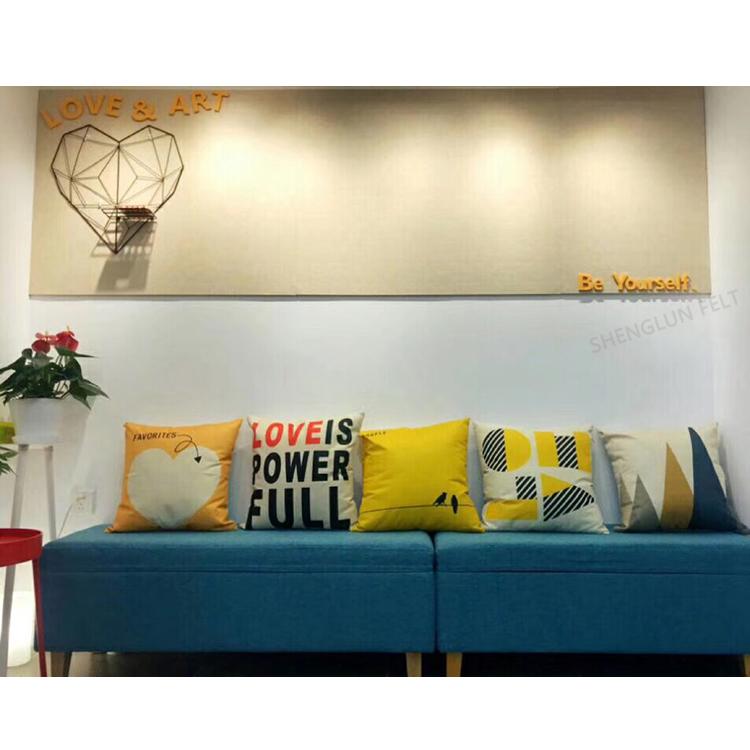 定制毛毡板彩色软木板照片墙背景墙幼儿园作品展示板公告栏留言板