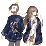 Shantou Society's second-yuan anime surrounding kimono Xixian Yu-woven Japanese-style yukata and wind jacket emoticon for men and women