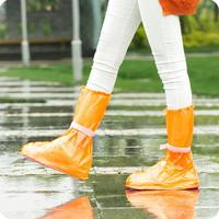 Tourism adult non-disposable men and women outdoor rain boots set fashion waterproof thickening non-slip wear-resistant portable transparent