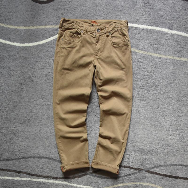 手工直筒裤