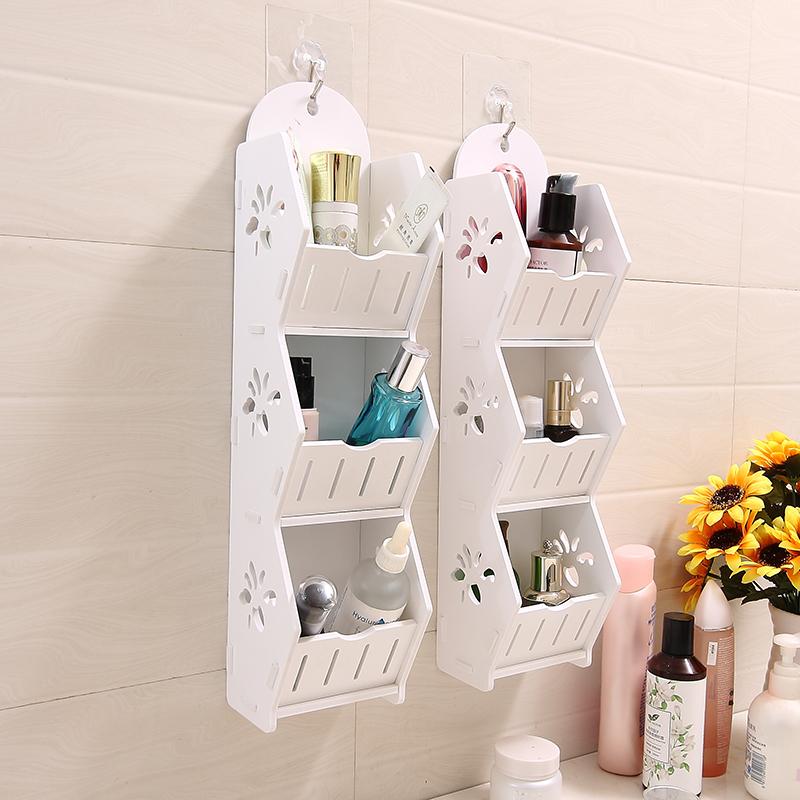 墙上置物架收纳架洗手间卫生间卧室墙壁装饰壁挂浴室整理架免打孔