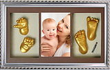 DIY baby hand and foot model with cloned powder stereo 3D commemorative 1 year old baby handprint ink pad newborn permanent