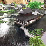 Ancient Architectural Model Suzhou Garden Scene Sand Table Arrangement Structural Decoration Toys Jiangsu and Zhejiang Style House