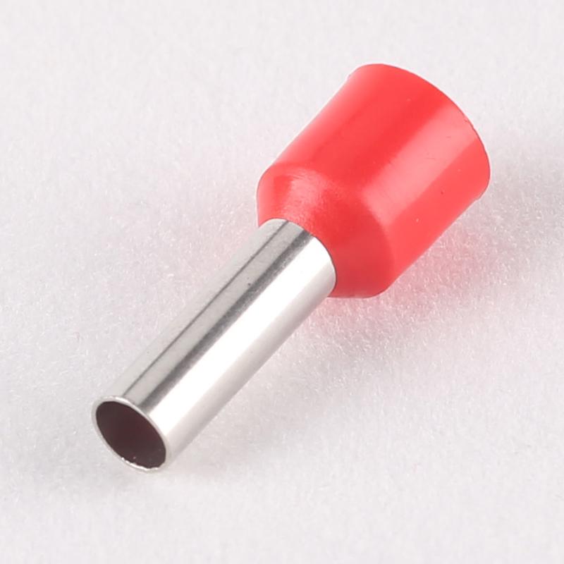 黄铜针形管型接线预绝缘压线端子E ve0508冷压欧式插针端头铜鼻子