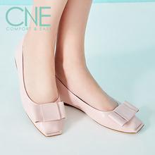 折CNE春夏新款甜美休闲方头低跟女单鞋 9M14002图片
