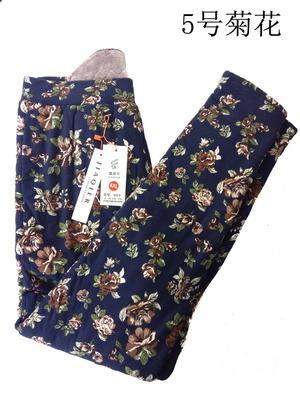 嘉奇尔女士加绒加厚驼绒棉裤修身花裤外穿型保暖裤9019高弹力包邮