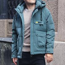 新款韩版潮流男中长款纯色棉服男生羽绒棉服外套冬季棉袄2018棉衣