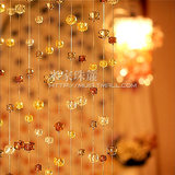 White waterfall bead curtain crystal partition crystal bead curtain hanging curtain curtain encryption screen screen yarn
