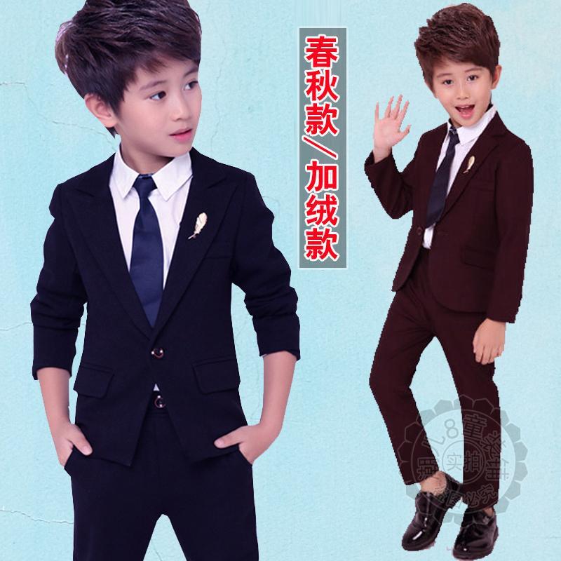 儿童主持人礼服周岁男孩花童西装套装英伦风绅士小学生西服演出服