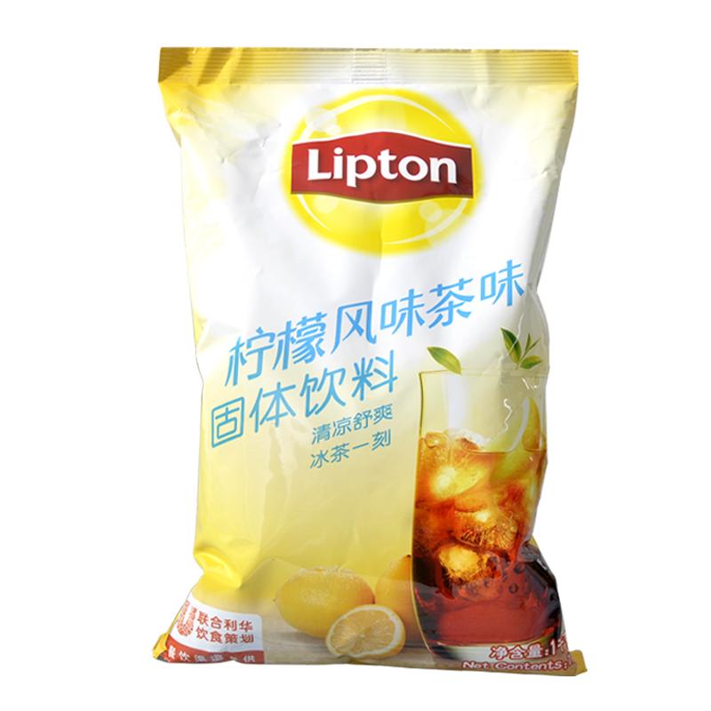 立顿柠檬红茶风味固体饮料冲饮果汁粉速溶饮料1000g袋装柠檬茶粉
