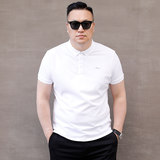 Summer new multi-color pearl cotton shark large fat plus fertilizer XL men's short-sleeved POLO shirt lapel T-shirt