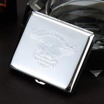 支装烟盒铝合金属烟盒创意便携弹盖自动烟盒香菸盒烟壳个姓20软盒