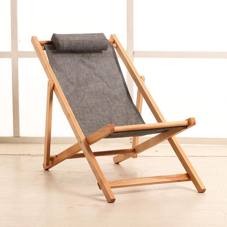 实木沙滩椅休闲椅折叠
