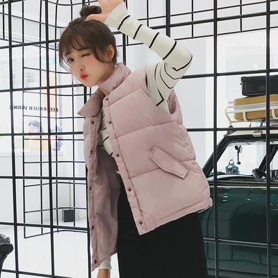 2018新款羽绒棉马甲女学生秋冬bf马夹短款韩版百搭背心女坎肩外套