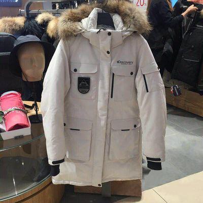 韩国代购2018冬装鬼怪同款军工装情侣款羽绒服女中长款加厚外套潮