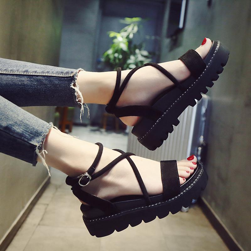 潮时尚松糕鞋