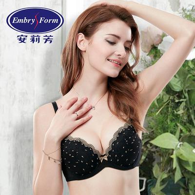 安莉芳文胸厚款专柜正品性感蕾丝聚拢女侧收调整型胸罩内衣KB0151
